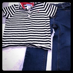 Jacadi 24 month shirt and jeans